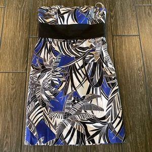 Trina Turk Strapless Palm Tree Dress Size 8